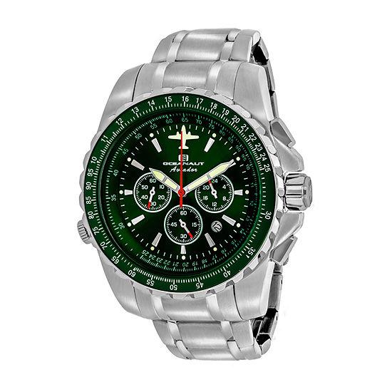 Oceanaut Mens Silver Tone Stainless Steel Bracelet Watch-Oc0117
