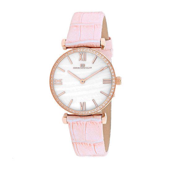 Oceanaut Womens Pink Leather Strap Watch-Oc3210