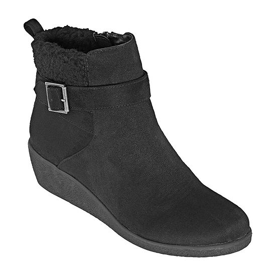 St. John's Bay Womens Sandie Wedge Heel Booties