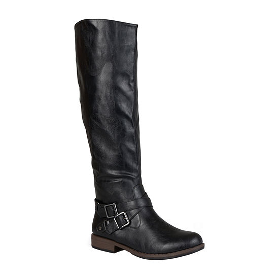 Journee Collection Womens April Wide Calf Riding Boots