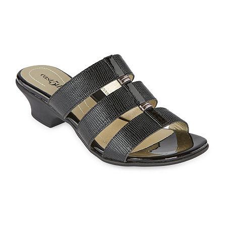 Vintage Shoes in Pictures | Shop Vintage Style Shoes east 5th Womens Elda Heeled Sandals 9 12 Wide Black $41.25 AT vintagedancer.com