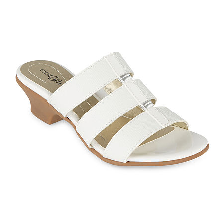 Vintage Shoes in Pictures | Shop Vintage Style Shoes east 5th Womens Elda Heeled Sandals 12 Wide White $41.25 AT vintagedancer.com