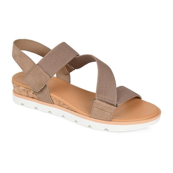 Journee Collection Womens Sammi Open Toe Slip-On Shoe