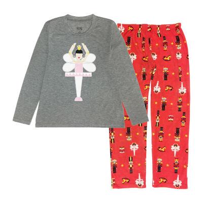 Secret Santa The Nutcracker Family Womens-Petite Pant Pajama Set 2-pc. Long Sleeve