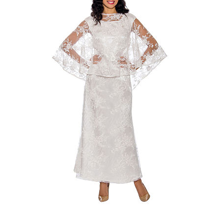 Vintage Prom Dresses, Homecoming Dress Giovanna Signature Short Sleeve Evening Gown-Plus $150.00 AT vintagedancer.com