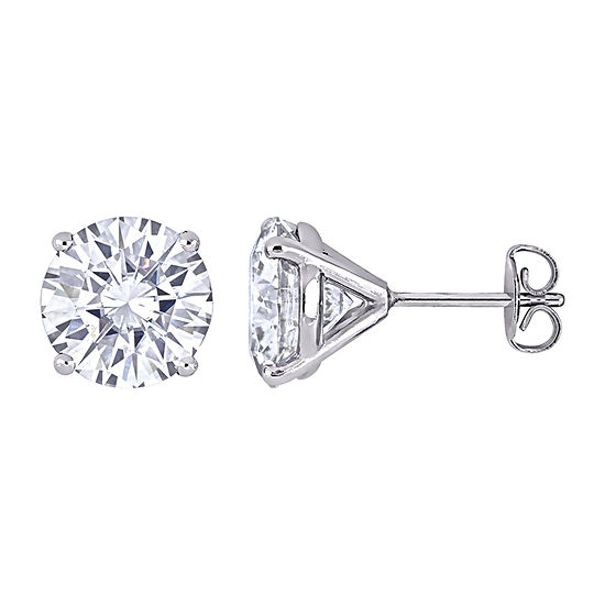 5 CT. T.W. Lab Created White Moissanite 14K White Gold 9mm Stud Earrings