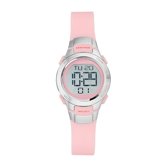 Armitron Pro Sport Womens Chronograph Multi-Function Digital Pink Strap Watch-45/7012pnk