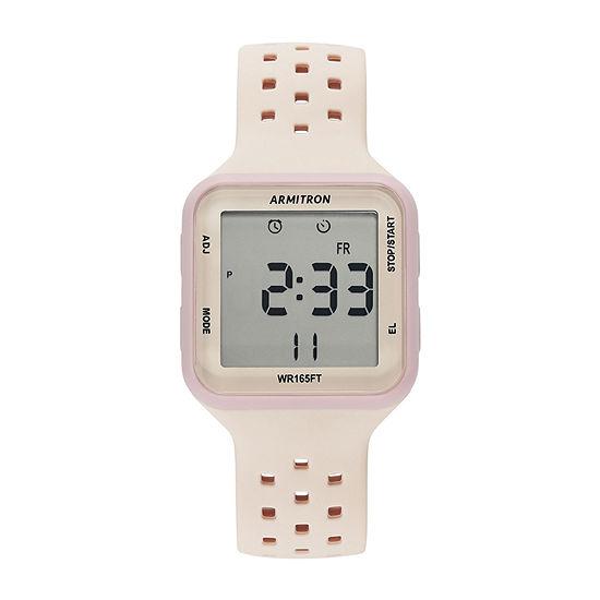 Armitron Pro Sport Womens Chronograph Pink Strap Watch-40/8417lbh