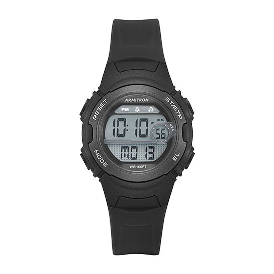 Armitron Pro-Sport Womens Chronograph Digital Black Strap Watch-45/7088blk