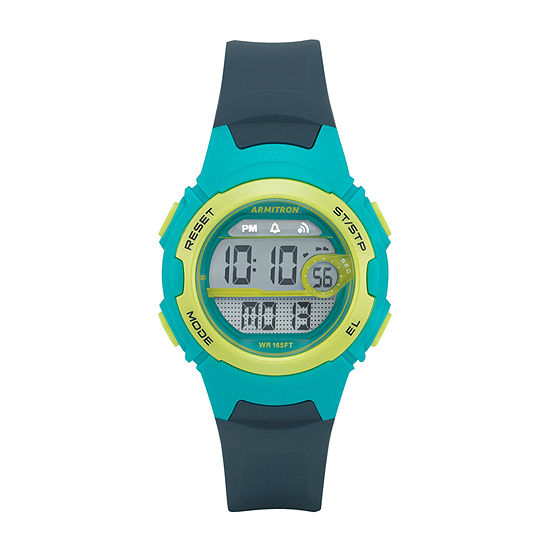 Armitron Pro-Sport Womens Chronograph Digital Blue Strap Watch-45/7088nvy