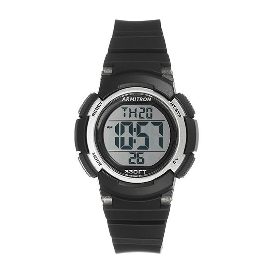 Armitron Pro Sport Womens Digital Black Strap Watch-45/7092blk
