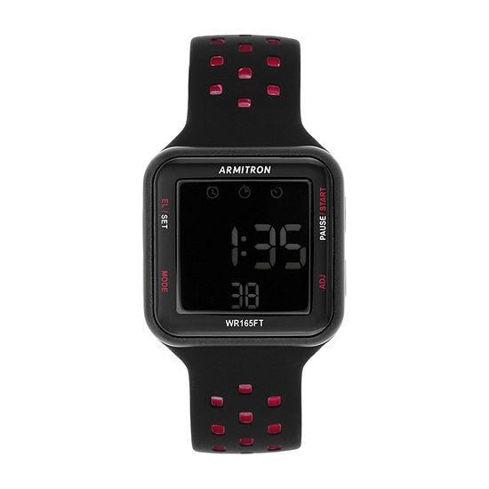 Armitron Pro Sport Mens Digital Black Strap Watch-40/8417brd
