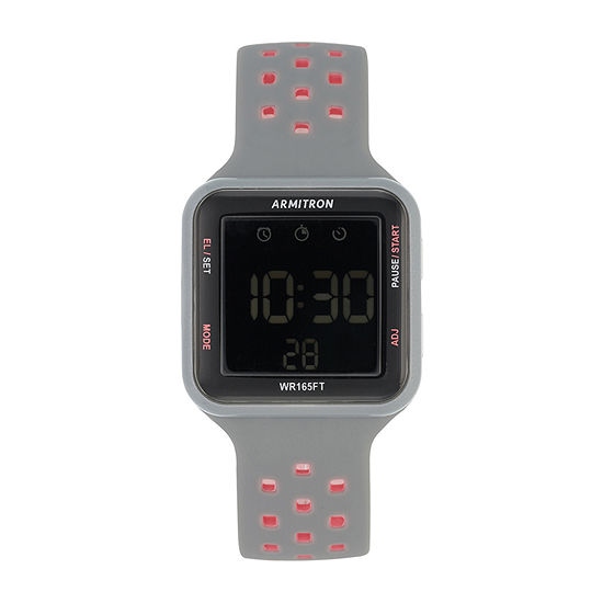 Armitron Pro Sport Mens Digital Gray Strap Watch-40/8417pgy