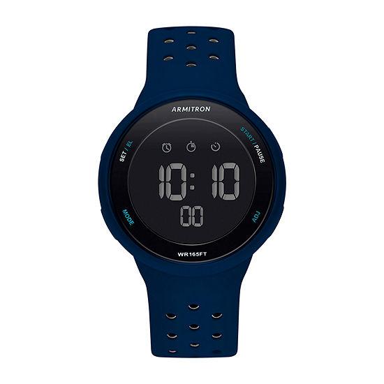 Armitron Pro Sport Mens Chronograph Blue Strap Watch-40/8423nvy