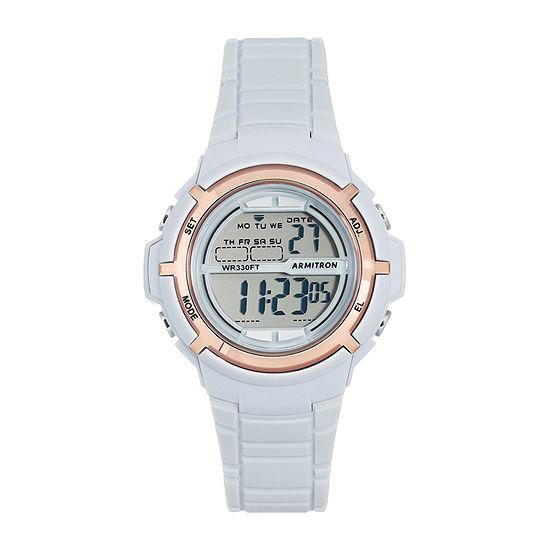 Armitron All Sport Womens Digital Gray Strap Watch-45/7045pbl