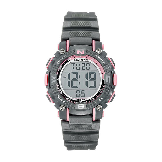 Armitron Pro Sport Mens Chronograph Gray Strap Watch-45/7099pgy