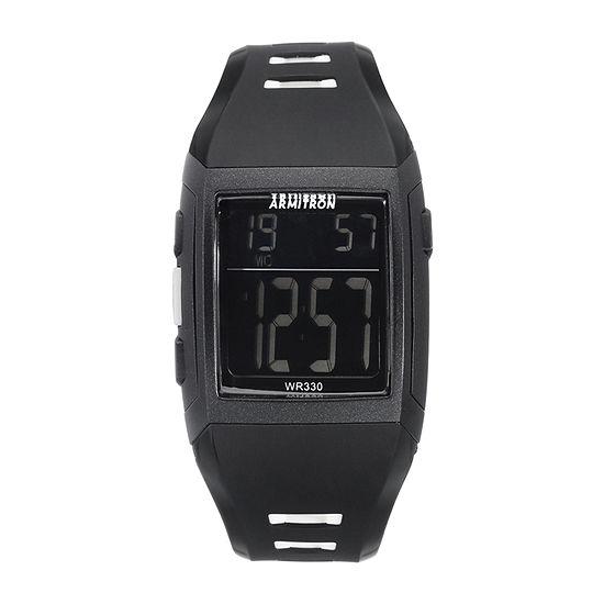 Armitron Pro Sport Mens Chronograph Black Strap Watch-40/8261blk