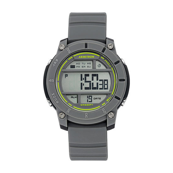 Armitron Pro Sport Mens Chronograph Gray Strap Watch-40/8442gry