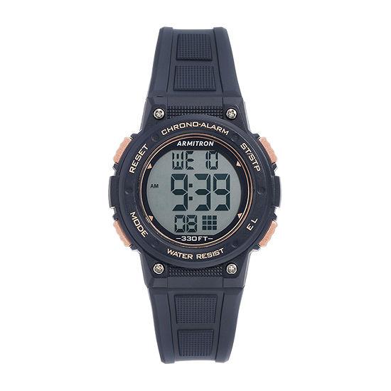 Armitron Pro Sport Womens Chronograph Blue Strap Watch-45/7086rnv