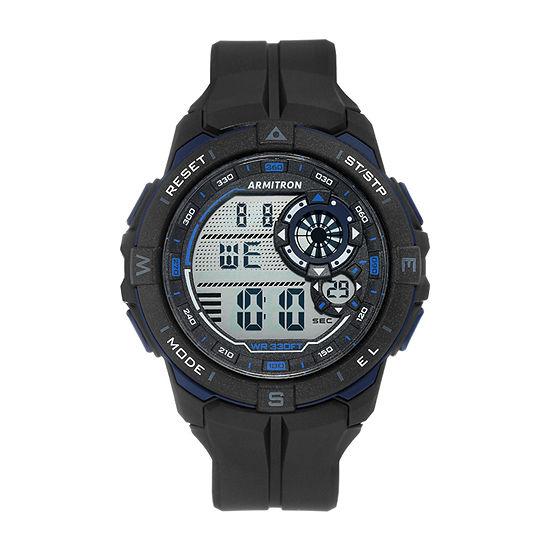 Armitron Pro Sport Mens Chronograph Black Strap Watch-40/8449bbk