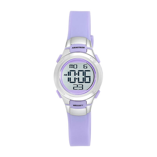 Armitron Pro Sport Girls Chronograph Purple Strap Watch-45/7012prsv
