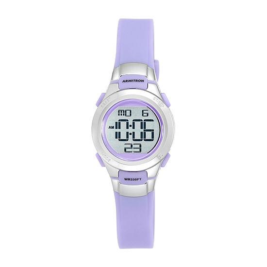 Armitron Pro Sport Girls Chronograph Purple Strap Watch-45/7012prsv