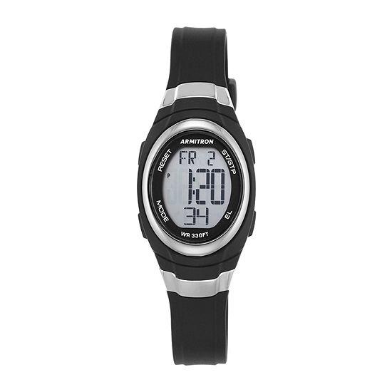 Armitron Pro Sport Mens Chronograph Black Strap Watch-45/7034blk
