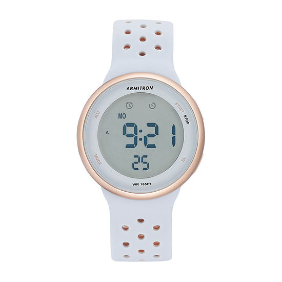 Armitron Pro Sport Womens Chronograph Multi-Function Digital Pink Strap Watch-40/8423pbl