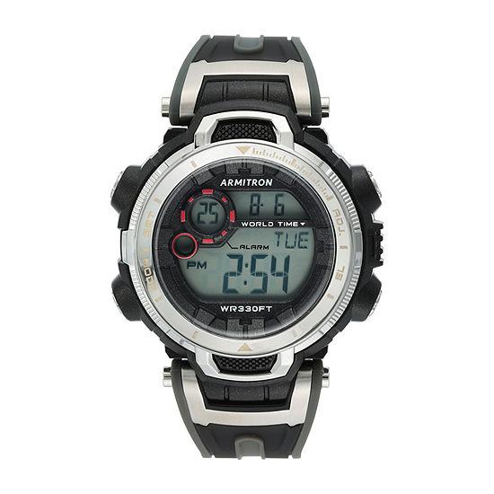 Armitron Pro Sport Mens Chronograph Black Strap Watch-40/8458gbk