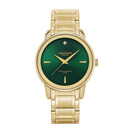 Armitron Mens Diamond Accent Gold Tone Stainless Steel Bracelet Watch - 20/5263gngp