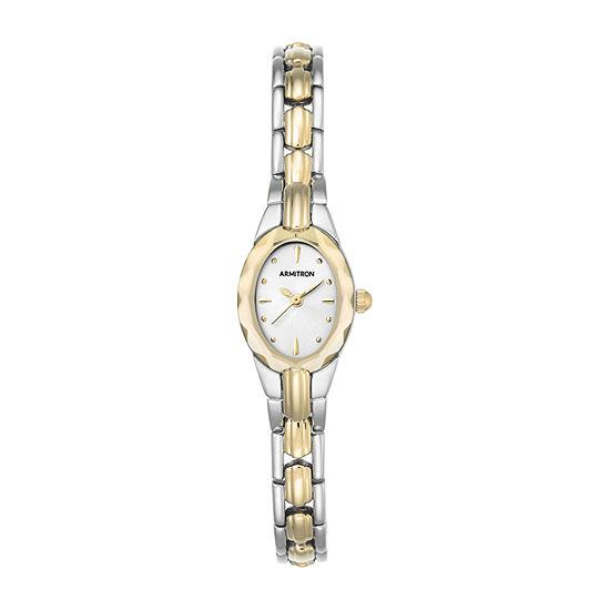 Armitron Now Womens Two Tone Stainless Steel Bracelet Watch - 75/3313svtt