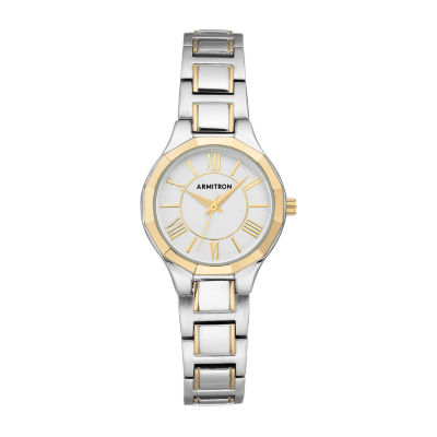 Armitron Womens Two Tone Bracelet Watch 75/5605svtt