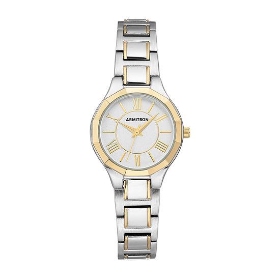 Armitron Womens Two Tone Bracelet Watch - 75/5605svtt