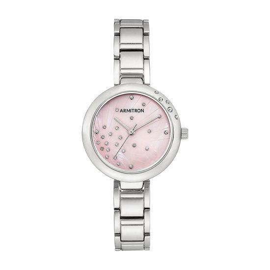 Armitron Womens Silver Tone Bracelet Watch-75/5588pmsv