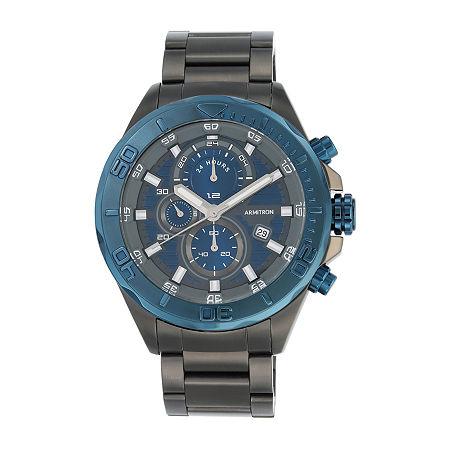 Armitron Mens Navy and Dark Gray Bracelet Watch, One Size