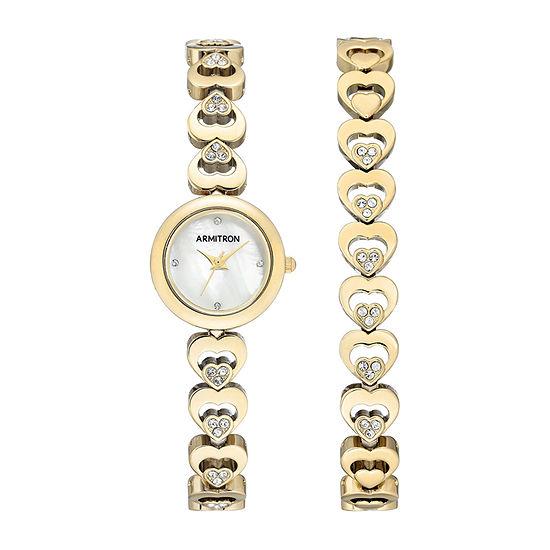 Armitron Womens Crystal Accent Gold Tone Bracelet Watch-75/5628mpgpst