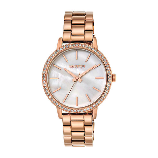 Armitron Womens Crystal Accent Rose Goldtone Bracelet Watch-75/5500mprg