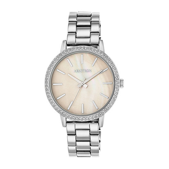 Armitron Womens Crystal Accent Silver Tone Bracelet Watch - 75/5500tmsv