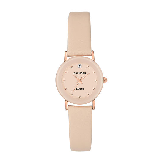Armitron Womens Pink Leather Strap Watch-75/2447bhrgbh