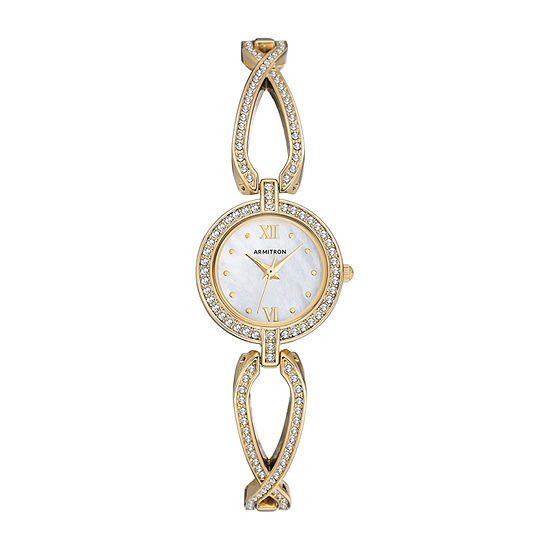 Armitron Womens Crystal Accent Gold Tone Bracelet Watch-75/5536mpgp