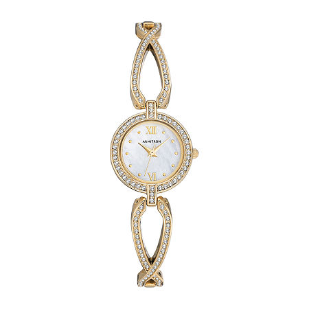 Armitron Womens Crystal Accent Gold Tone Bracelet Watch - 75/5536mpgp, One Size