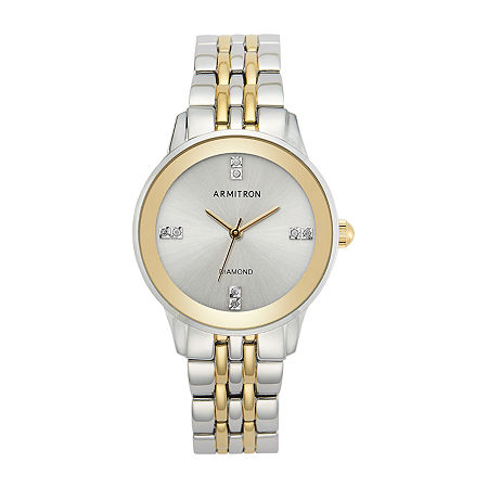 Armitron Womens Crystal Accent Two Tone Bracelet Watch - 75/5538svtt, One Size