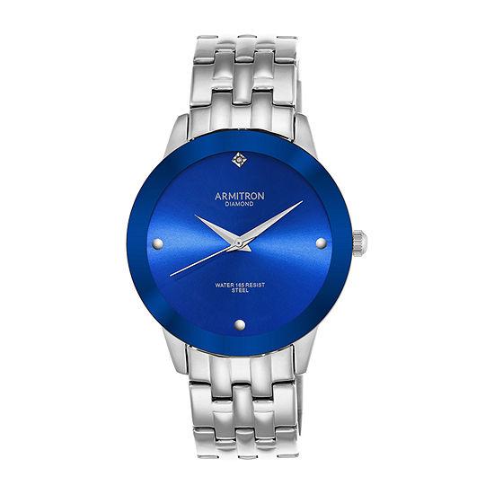 Armitron All Sport Mens Silver Tone Stainless Steel Bracelet Watch - 20/4952blsv