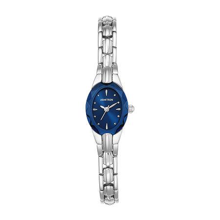 Armitron Womens Silver Tone Bracelet Watch - 75/3313blsv, One Size