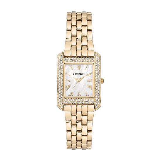 Armitron Womens Gold Tone Bracelet Watch-75/5575mpgp