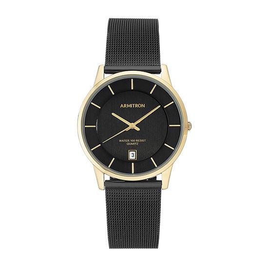 Armitron Mens Black Stainless Steel Bracelet Watch-20/5123gpti