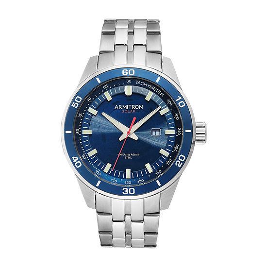 Armitron Mens Silver Tone Stainless Steel Bracelet Watch - 20/5289nvsv