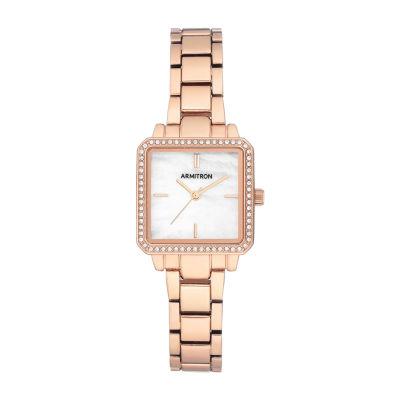 Armitron Womens Crystal Accent Rose Goldtone Bracelet Watch 75/5589mprg