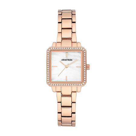 Armitron Womens Crystal Accent Rose Goldtone Bracelet Watch - 75/5589mprg, One Size