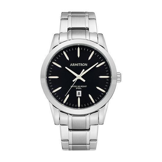 Armitron Mens Silver Tone Stainless Steel Bracelet Watch-20/5294bksv